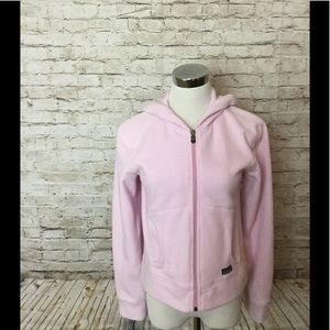 Patagonia pink fleece zip up jacket